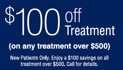 100 dollars off any treatment