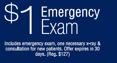 One dollar emergency exam